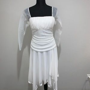 City Triangles off white dress Sz L
